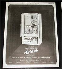 1928 OLD MAGAZINE PRINT AD, SEEGER MODEL 6-8 1/2 REFRIGERATOR CABINETS, WORTHY!