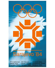 SARAJEVO 1984 Winter Olympic Games Official Olympic Museum POSTER Reprint