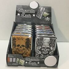 Hard cigarette case with Dark Side and Biker graphics 12pcs