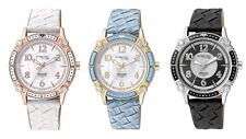 OROLOGIO DONNA Q&Q by citizen ATTRACTIVE SOLO TEMPO LADY ACCIAIO PELLE STRASS