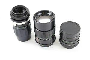 Lot of 3 vintage lenses