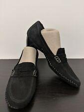 Donald J Pliner Loafers Shoes Womens 10M Petra Black Suede Moc Toe Low Heel $230