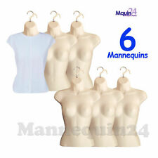 Flesh Mannequin Female Torsos - Lot of 6 pcs - Women's Hanging Dress Forms