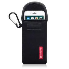 Shocksock Neopreno Funda Con Mosquetón para iPhone 7/8 - Negro