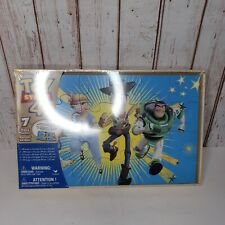 NEW Disney TOY STORY 4 Jigsaw Puzzle Set, Wooden Storage Box, 7 Puzzles, Age 3+