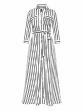 Banana Republic Stripe Maxi Shirt Dress- Black & White Stripe Sz 10