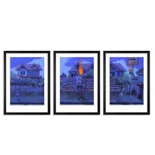 Bezt of Etam Cru Midnight Walk Triptych 3 Print Set Numbered 36/50 Art print