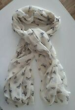 ACCESSORIZE/MONSOON CREAM LIGHT WEIGHT LADIES SCARF WITH BUTTERFLIES