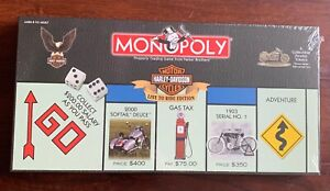 """HARLEY-DAVIDSON MOTORCYCLES MONOPOLY GAME """"LIVE TO RIDE EDITION"""" SEALED © 2000"""