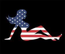 American Flag Mud Flap Girl Vinyl Decal Sticker Car Truck Window