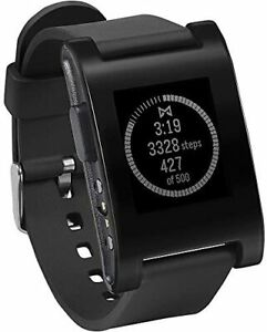 Pebble E-Paper Watch black for iPhone and Android Kickstarter edition parallel i