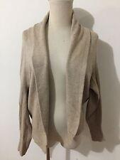 Lands' End Canvas Open Drape Cardigan Sweater Tan Size XS