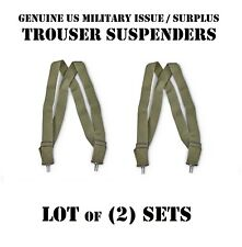 LOT of 2 US MILITARY ARMY USMC OD TROUSER PANT SUSPENDERS M1950 BDU ACU DCU NEW
