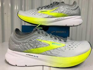 Brooks Hyperion Elite Wht Nightlife Grey Volt Green 9 100032 1D 188 Running Shoe