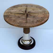 Wooden compass designer round table tea coffee handmade luxury table home decor