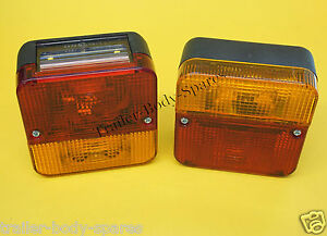 FREE UK Post - 2 x Perei Rear 4 Function Small Trailer Lamp Light    #TR