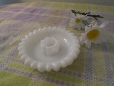 Milk Glass Candle Holder/ Vintage/ Hazel Atlas Glass
