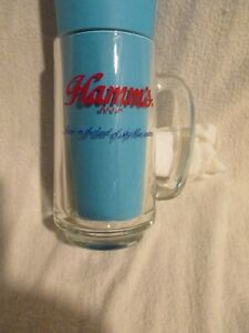 Vintage Hamm's Beer - Glass Mug  Born in The Land of Sky Blue Waters NOS