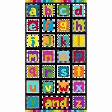 And Z Fabric Panel Alphabet Letters Nursery Children Premium Cotton Andover