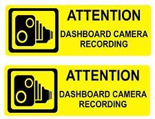 Tablero Cámara Advertencia Pegatinas SML 1 par de pegatinas de alta visibilidad externa