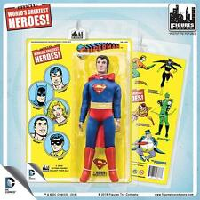 DC Comics 8 Inch Superman Action Figure  With retro like Cards: mip  retired