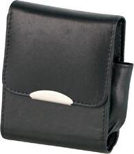 Packungsetui Zigaretten Schachtel für Big Pack Leder Schwarz 85mm Feuerzeugfach