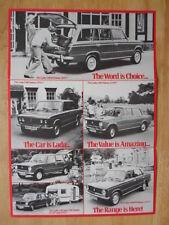 LADA RANGE orig 1977 1978 UK Mkt Sales Leaflet Brochure - 1200 1300 1500 ES