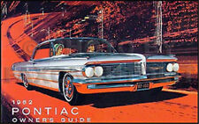 1962 Pontiac Owners Manual 62 Bonneville Grand Prix Catalina Star Chief Guide
