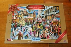 Ltd Ed Gibsons 1000 Piece Jigsaw Puzzle Wrapped up for Christmas G2017 Complete