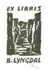 Exlibris Gipsschnitt - Fjord Norwegen - Franz Grickschat Nr 13 signiert