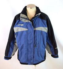 COLUMBIA CHALLENGE SERIES Blue Black Ski Trail Jacket Weather Resistant Womens M