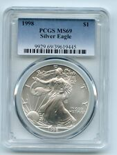 1998 $1 American Silver Eagle Dollar 1oz PCGS MS69