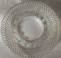 Vintage Glass Clear Diamond Pattern  Ash Tray