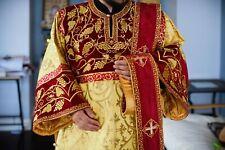 Orthodox deacon vestments set, Velvet, embroidery, brocade