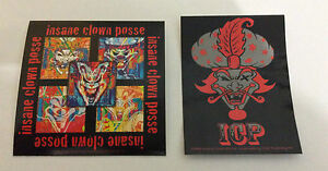 INSANE CLOWN POSSE 2-Pack of Stickers Cards & Milenko NEW OFFICIAL MERCH ICP