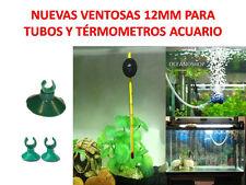 PACK de 2 VENTOSAS 12 mm diametro para TUBO y TERMOMETRO bomba acuario ventosa