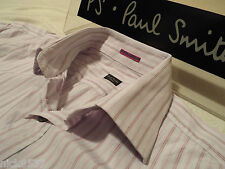 "PAUL SMITH Mens Shirt🌍 Size 16"" (CHEST 44"")🌏 RRP £95+🌏 PATTERNED STRIPES"