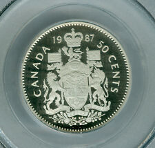 1987 CANADA 50 CENTS PCGS PR69 2ND FINEST ULTRA HEAVY CAMEO FINEST GRADED *