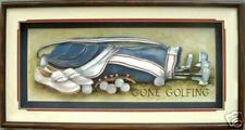 Shadow Box Frame 12x24 & Paper Tole Kit Gone Golfing