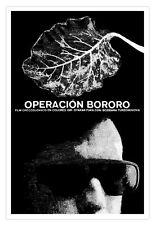 Cuban decor Graphic Design movie Poster for Cuba film.Operacion BORORO. art