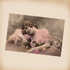 Edwardian Lady - New 4x6 Vintage Postcard Image Photo Print - LE01