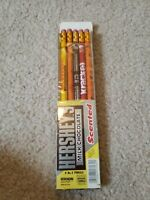 5 Vintage Dixon Hershey's Milk Chocolate Scented No. 2 Pencils Opened pack 1989