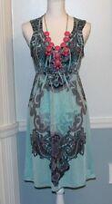 KIARA WOMEN'S PAISLEY BOHO DRESS SMALL 2 4 6