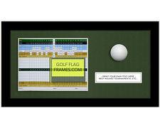 8x16 Black Golf Scorecard & Ball Frame, blk-004, Green Mat; fits appr 6x8 card