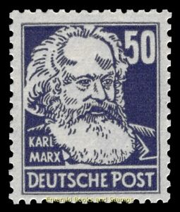EBS Germany 1948 SBZ Famous People Köpfe - Karl Marx - Michel 224 MNH**