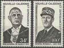 Timbres De Gaulle Nouvelle Calédonie 377/8 ** lot 24382 - cote : 34,50 €