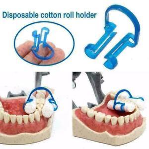 20Pcs Cotton Roll Holder Clip Disposable Dental Isolator Clinic Blue D5O7