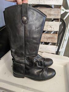 FRYE Women's Melissa Button Black Leather Boots US 77167 Size 9 M