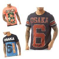 Superdry Mens Osaka 6 T-Shirt  (Quarter Back, Sport Panel Eclipse, Mid Weight)