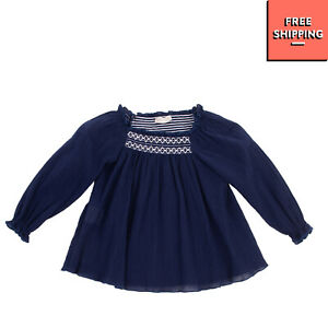 J.O. MILANO Crepe Top Blouse Size 12M / 74CM Pleated Embroidered Made in Italy